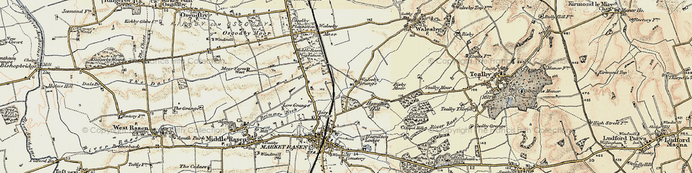 Old map of Willingham Forest in 1903