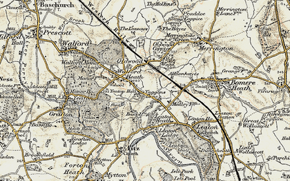 Old map of Yeaton Lodge in 1902