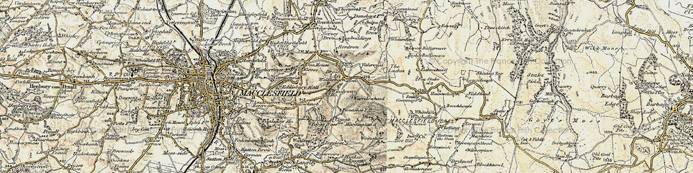 Old map of Windyway Ho in 1902-1903