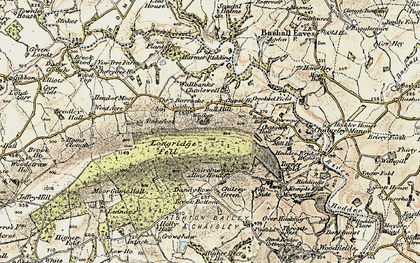 Old map of Armrydding in 1903-1904
