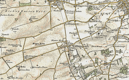 Old map of Walkington in 1903-1908