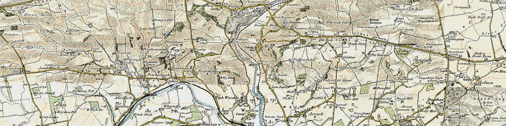 Old map of Wall in 1901-1903