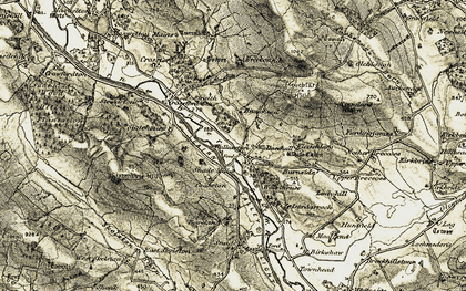 Old map of Woodhouse in 1904-1905