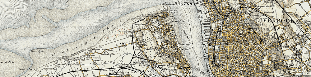 Old map of Wallasey in 1902-1903