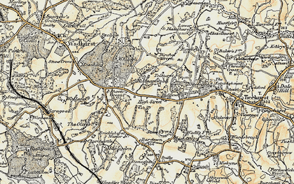 Old map of Wallcrouch in 1898