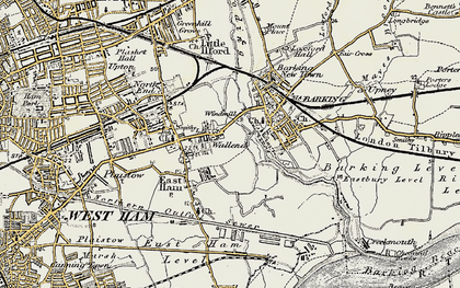 Old map of Wallend in 1897-1902