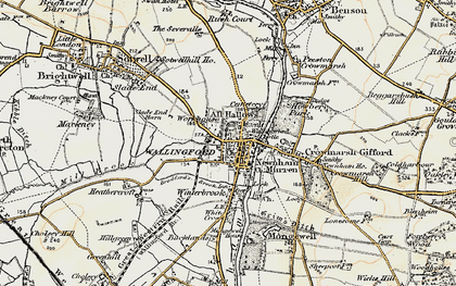 Old map of Wallingford in 1897-1898