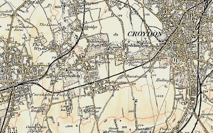 Old map of Wallington in 1897-1902