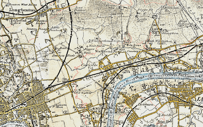 Old map of Wallsend in 1901-1903