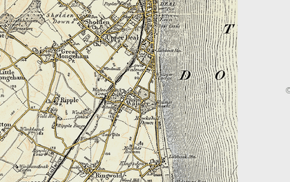 Old map of Walmer in 1898-1899