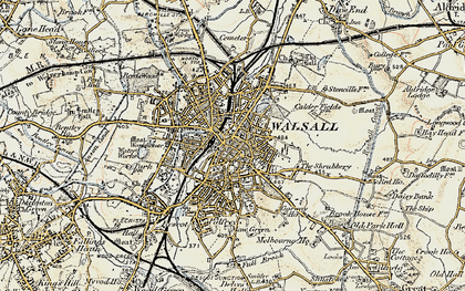 Map Of Walsall Walsall photos, maps, books, memories   Francis Frith Map Of Walsall