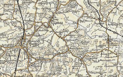 Old map of Awbrook in 1898