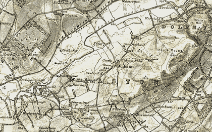 Old map of Wester Walston in 1904-1905
