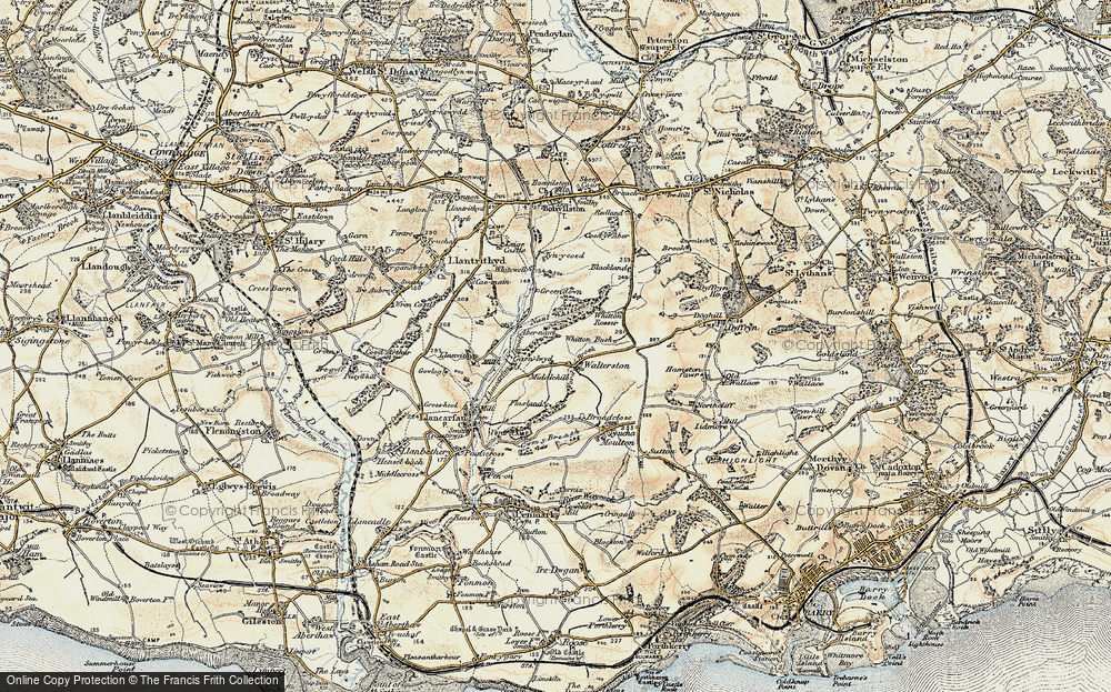 Old Map of Historic Map covering Whitewell in 1899-1900