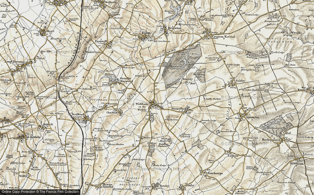 Old Map of Historic Map covering Lings Covert in 1901-1903