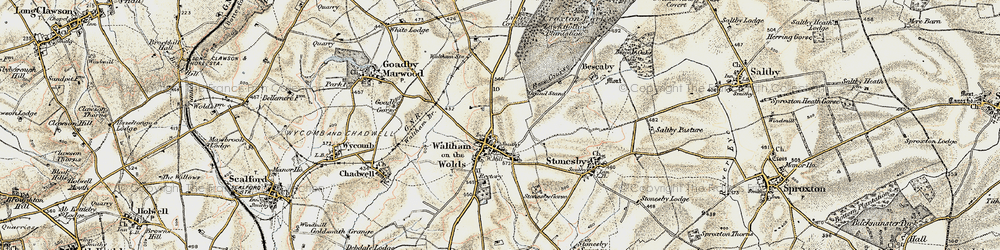 Old map of Lings Covert in 1901-1903