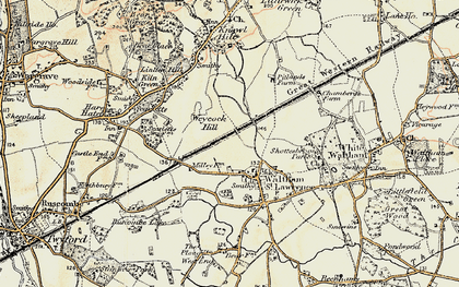 Old map of Waltham St Lawrence in 1897-1909