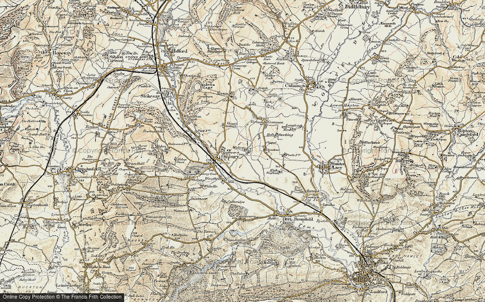 Old Map of Historic Map covering Ayntree in 1901-1903