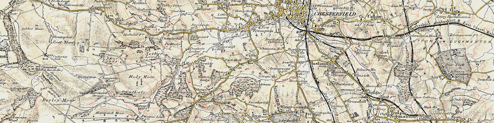 Old map of Widdowson Spring Wood in 1902-1903
