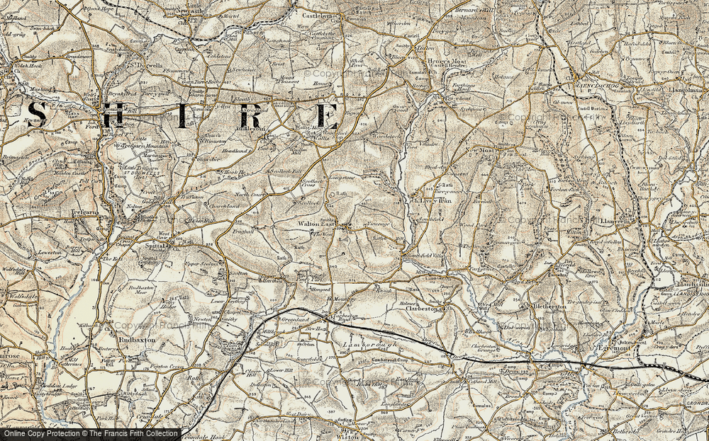 Old Map of Historic Map covering Afon Syfynwy in 1901-1912