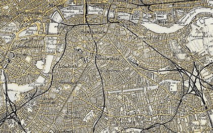 Old map of Elephant and Castle Sta in 1897-1902