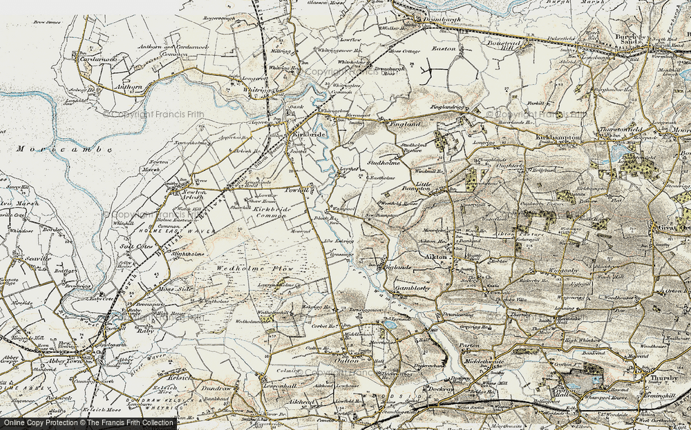 Old Map of Historic Map covering Laythes, The in 1901-1904