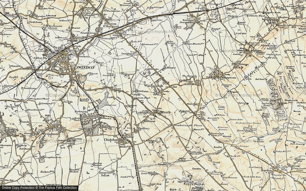 Old Map of Wanborough, 1897-1899 in 1897-1899