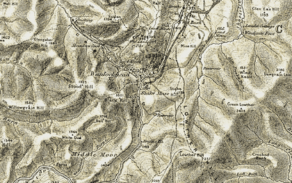 Old map of Willowgrain Hill in 1904-1905