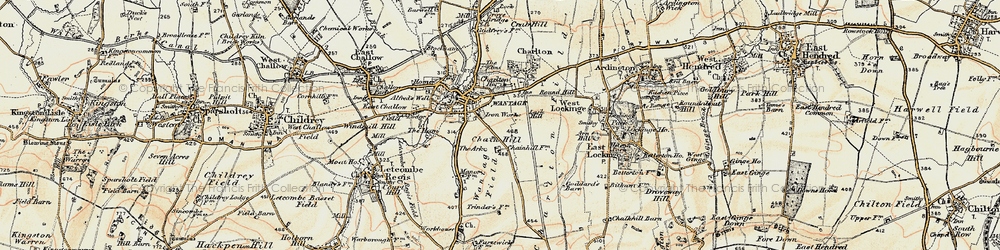 Old map of Wantage in 1897-1899