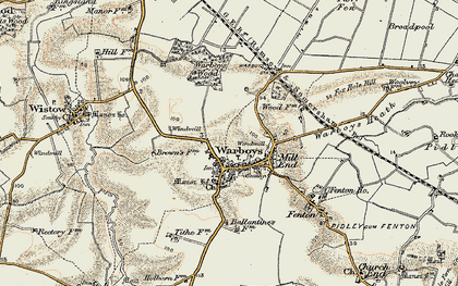 Old map of Warboys in 1901