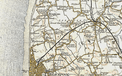 Old map of Layton Sta in 1903-1904