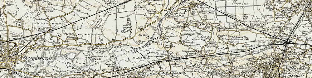 Old map of Warburton in 1903