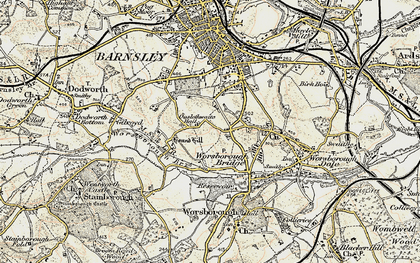 Old map of Worsbrough Resr in 1903