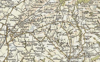 Old map of Written Stone in 1903-1904
