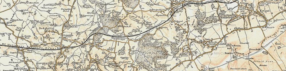 Old map of Wardour Castle in 1897-1899