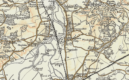 Old map of Wargrave in 1897-1909