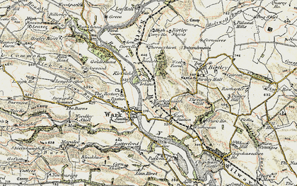 Old map of Bankhead in 1901-1904