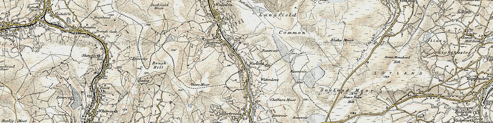 Old map of White Holme Resr in 1903