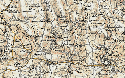 Old map of Warleggan in 1900
