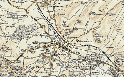 Old map of Warminster in 1897-1899