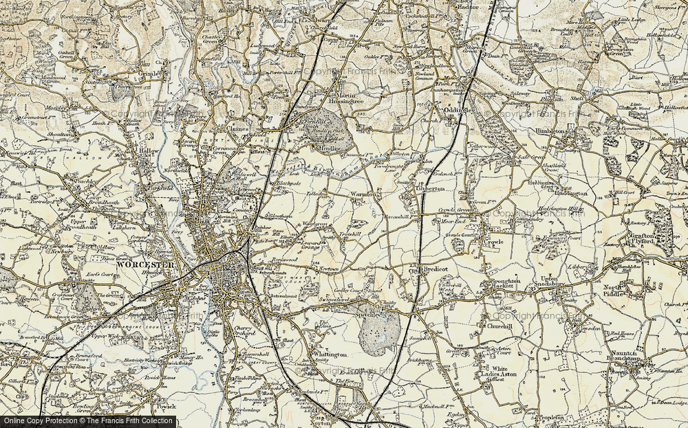 Old Map of Historic Map covering Woodgreen in 1899-1902