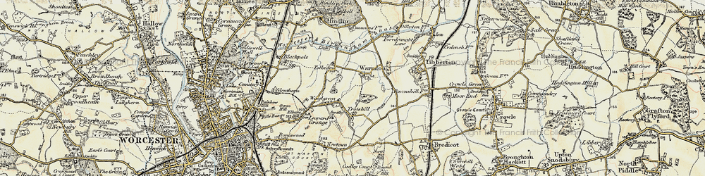 Old map of Woodgreen in 1899-1902