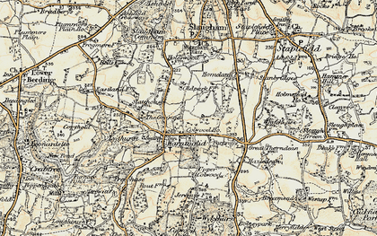 Old map of Warninglid in 1898