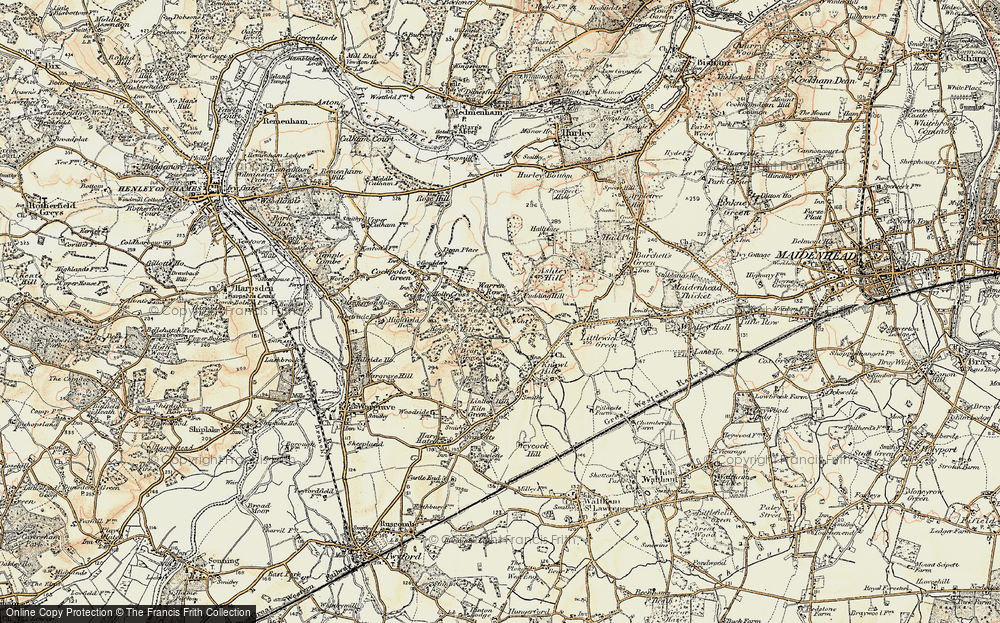 Old Map of Historic Map covering Ashley Hill Forest in 1897-1909