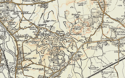 Old map of Ashley Hill Forest in 1897-1909