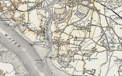 Old map of Warsash in 1897-1899