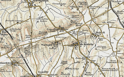 Old map of Ashleigh in 1901-1903