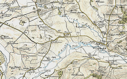 Old map of Wreighill Pike in 1901-1903