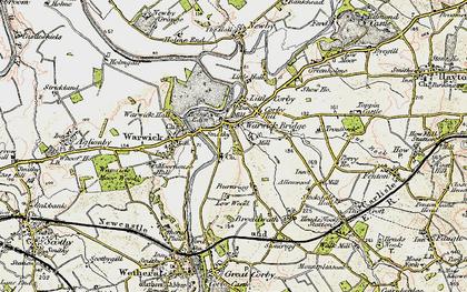 Old map of Warwick Bridge in 1901-1904
