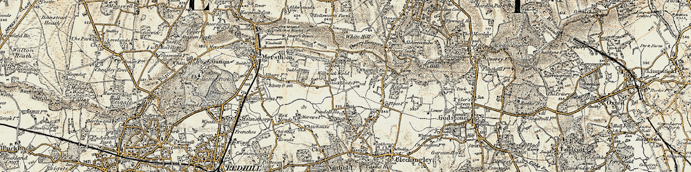 Old map of White Hill in 1898-1902